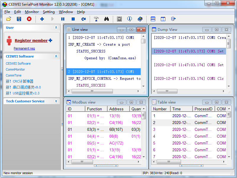 Windows 7 CEIWEI SerialPort Monitor 12.0.3 full